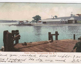 Field's Point Narragansett Bay Rhode Island 1907 postcard