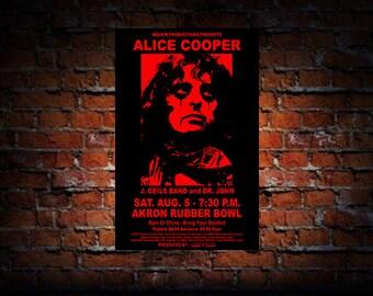 Alice Cooper / J. Geils Band 1972 Concert Poster