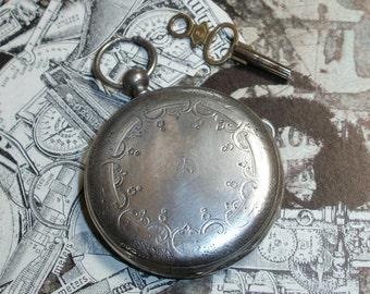 Pocket Watch w/ Key - Ernest Francillon - Key Wind, 15 Jewel