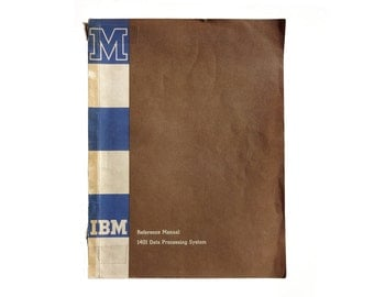 Paul Rand (attributed) book cover design, 1960-61. IBM Reference Manual: 1401 Data Processing System