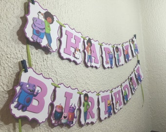Home Dreamwork Disney Personalized Banner/ cake topper/ paper straws/ cupcake toppers/ center piece/ welcome sign/ and more.