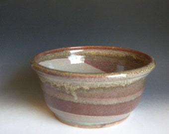 Hand thrown stoneware pottery bowl (B-51)