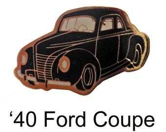 1940 FORD COUPE vintage lapel  enamel pinback tie hat pin