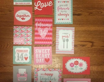 Doodlebug VALENTINE'S DAY  project life cards - set of 15
