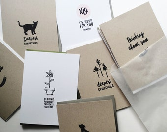 sympathy + support greeting card pack
