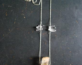 Raw Quartz Crystal Talisman Necklace - FREE Shipping - OOAK
