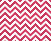 CLEARANCE SALE Premier Prints candy pink and white zigzag chevron home deco fabric 1 yard