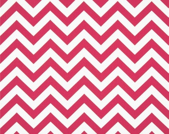 CLEARANCE SALE yardage Premier Prints candy pink and white zigzag chevron home deco fabric