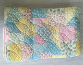 Vintage quilted baby blanket