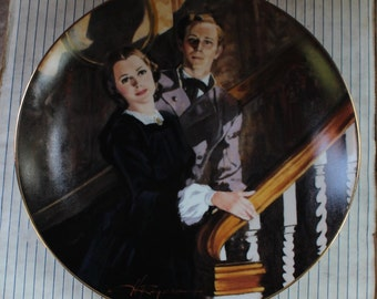 """Gone With The Wind """"Melanie & Ashley"""" Collectors Plate 1989"""