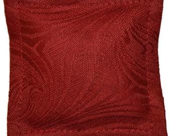 Organic Lavender Sachet, Burgundy Designer Fabric, 100 Percent Cotton