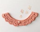Peter Pan Collar Crochet Pattern, Lace Collar Necklace, Peter Pan Collar Dress, Crochet Pattern for Little Girls, Baby Crochet Pattern