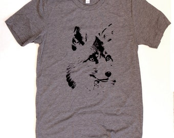 Fox UNISEX/MENS T-Shirt  -  Available in S M L XL  -  animal nature tee