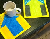 modern mug rug candle mat quilted table topper choose any 2