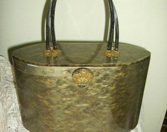 Vintage Wilardy Lucite Box Purse Signed