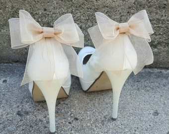 Shoe Clips, Shoe Clips Wedding, Shoe Clips Bridal, SHoe Clips Bows, Shoe Clip Ons, Shoe Clips Wedding Shoes, Shoe Clips Champagne, Shoe Ons