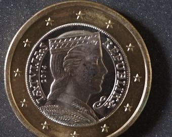 Latvia Euro Coin 2014  Bi-Metallic