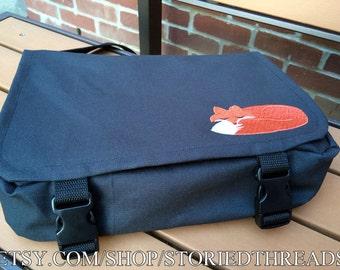 Kawaii Sleeping Fox Tablet or Netbook Messenger Bag