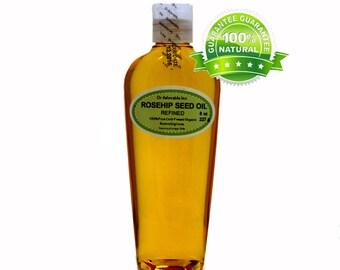 8 Oz Rosehip Oil 100% Pure & Organic Cold Pressed