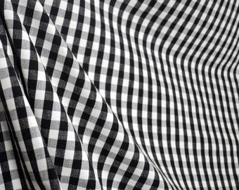 DC41 Chester Black White Check Fabric