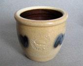 Shadowlawn Wisconsin Stoneware Small Art Pottery Blue Salt Glaze Pot
