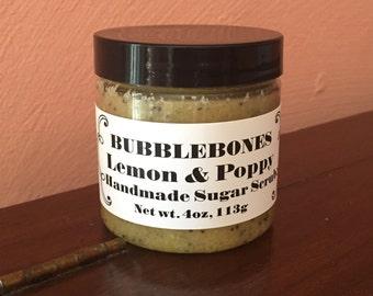 6oz Emulsified Sugar Scrub - Dead Sea Salt - CHOOSE SCENT