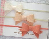 Felt Bow Headband, Baby Bow Headband, Baby Headband, Felt Bows, Mini Felt Bows, Felt Hair Bow, Pick A Color, Newborn Headband, Toddler Bow