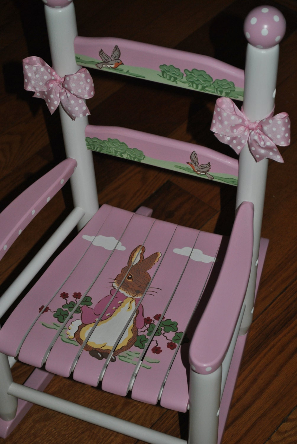 Handpainted Rocking Chair Personalized Kids Rocking