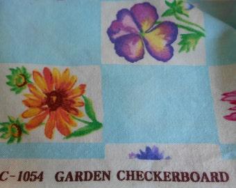 Michael Miller GARDEN CHECKERBOARD quilting cotton fabric. c-1054 Maywood Studio remnant