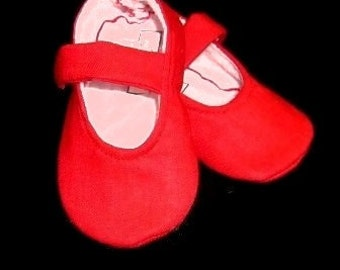 Red Baby Girl Shoes | Newborn size |  FREE shipping in the US