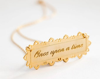 Once upon a time necklace, vintage jewelry, stylish, story teller