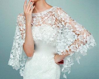 White Lace Bolero, White Bridal Bolero, White Wedding Bolero, Lace Bolero Shrug, Lace Bolero Wrap, Lace Bolero Shawl, Lace Cover Up