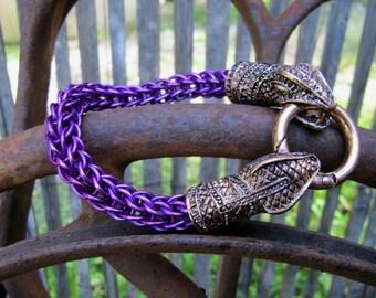 Violet Chainmaille Snake Bracelet
