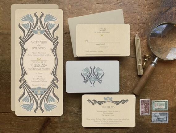 Artist Wedding Invitations: Art Deco Wedding Invitation Save The Dates Vintage By GoGoSnap