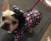 Pink Crazy Dot Fleece Dog Jacket