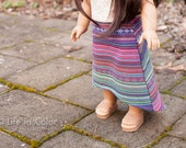 """High Low Woven Skirt for 18"""" Doll"""