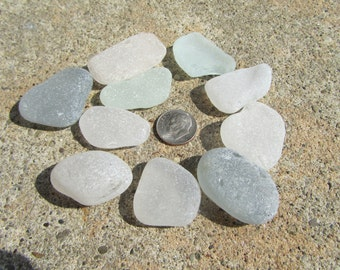10 Larger Surf Tumbled Lake Erie Beach Glass Pieces