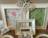 Frame Collection Butterflies Heirloom White Wall Decor Nursery Filigree Round