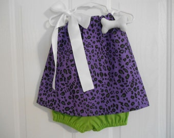 Pebbles Costume purple size 0-3 months through size 3 includes bone and with or without crochet headband ships priority mail