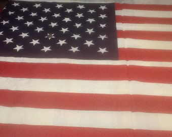 American flag cotton fabric panels. 60 by 35 inches