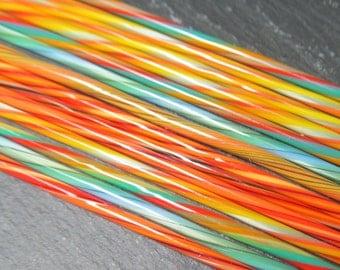 Ultra fine Carnival Twistie Cane mix pack CoE 104 14pcs