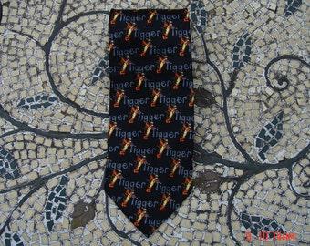 Vintage Disney's Pooh Black Tiggy Silk Necktie