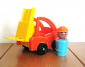 Fisher Price Forklift with Construction Man