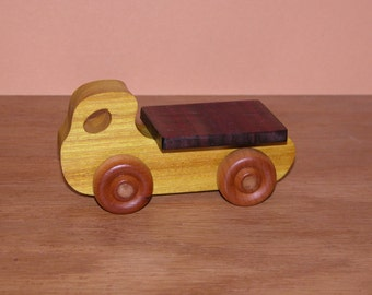 Child's Toy - Wooden Flatbed Mini Truck - Kids Toy - Wooden Car