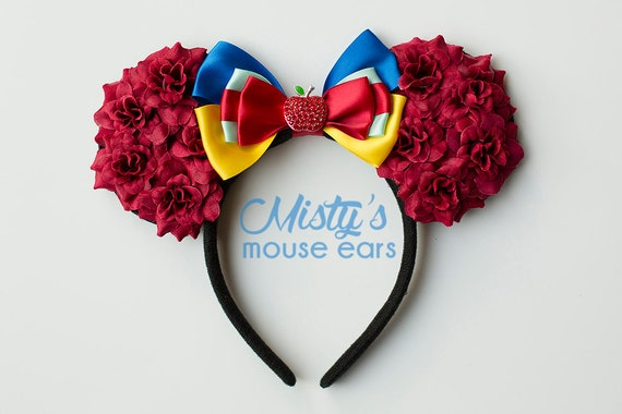Inspired Snow White Rose Mouse Ears