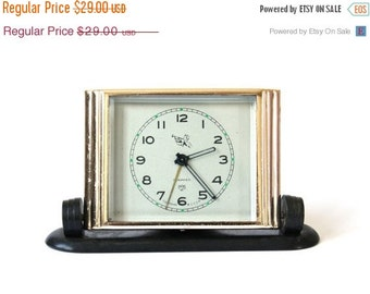 25% OFF ON SALE Vintage Russian mechanical alarm clock Slava from Soviet Union Rare pioneer
