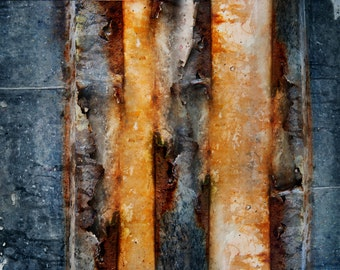 Abstract Wall Art, Rust Aged Metal, Home Decor, Unique Decor, Modern Wall Art on Archival Paper, Abstract Photography