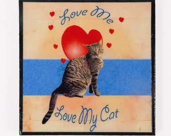Refrigerator Magnet, Tabby Cat, Fridge Magnets, I Love Cats, Cat Magnets, Cat Lady Gifts, Kitchen Magnets, Deborah Julian