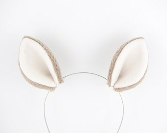 Deer Ears Hair Clips Doe Costume Plush Fabric Ears