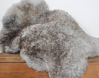 Vintage Sheepskin Rug Wool Sheep Pelt Hide Baby Photo Prop Genuine Fur Home Decor